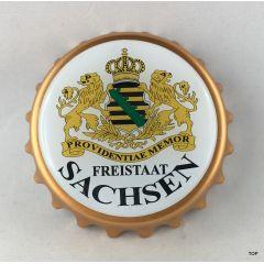 Kapselheber Sachsen sächsischem Wappen Flaschenöffner Magnet