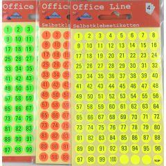 Zahlen Runde Etiketten 5 mm Klebesticker Selbstklebend
