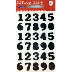 Zahlen Ziffern Klebezahlen schwarz Etiketten Schriftgröße 15 mm