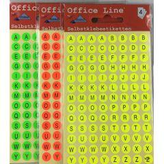 Buchstabenetiketten Alphabet Klebebuchstaben A Z Schriftgröße 5 mm Klebesticker Selbstklebend Aufkleber rund