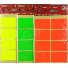 Etiketten Selbstklebeetiketten Allzwecketiketten Markieretiketten farbige Bogenetiketten Maße 3,8 cm x 2,5 cm