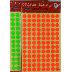Markierungspunkte Etiketten Selbstklebeetiketten farbige Bogenetiketten Maße Ø 9 mm
