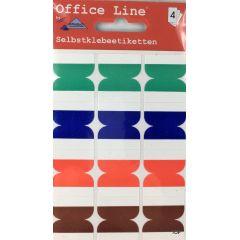 Selbstklebeetiketten farbige Markieretiketten 3 x 2,5 cm