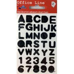 Buchstaben Alphabet Klebebuchstaben A-Z Klebesticker Zahlen Selbstklebend Aufkleber