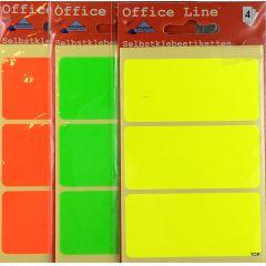 Etiketten Selbstklebeetiketten Allzwecketiketten Markieretiketten farbige Bogenetiketten Maße 7,5 cm x 3,5 cm
