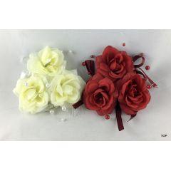Rosen Kerzenring Tischdeko Kerzen Kranz zwei verschiedene Farben