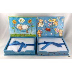 Zettelbox Notizzettel Spender Box mit Teddy oder  Schafmotiv