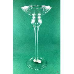 Glas  Kerzenhalter  mit gedrehten Stiel