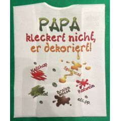 XL Latz  Papa kleckert nicht, er dekoriert Lätzchen Erwachsene