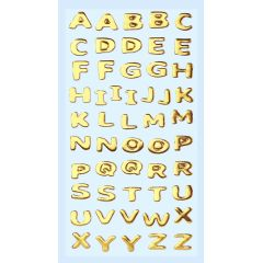 Original Hobbyfun SOFTY-Sticker Buchstaben gold