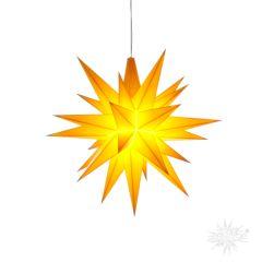 A1e gelb Kunststoff Original Herrnhuter Stern für Innen mit LED