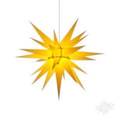 Original Herrnhuter Stern i7 aus Papier für die Innenverwendung, gelb