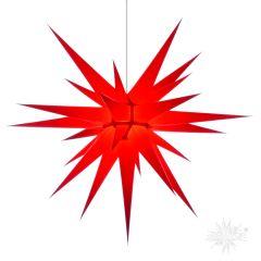 Original Herrnhuter Stern i8 aus Papier für die Innenverwendung, rot