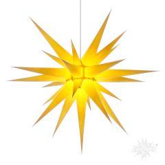 Original Herrnhuter Stern i8 aus Papier für die Innenverwendung, gelb