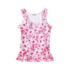 Top Trend, Blumen-Alloverdruck, 40, 48, farbe pink/ weiß