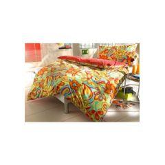 Auro Hometextile, 1 Duvet 160x210 cm und 1 Pfulmen 65x100 cm, farbe rot