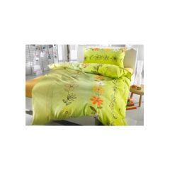 2 tlg. Bettwäsche, 1 Kissen 65/100 cm, 1 Bettbezug 160/210 cm, farbe kiwi