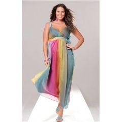 Kleid So bin Ich, Regenbogenfarben, 52, farbe bunt