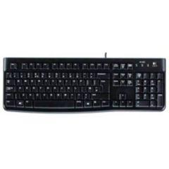 Logitech Tastatur Keyboard K120 / USB / schwarz / Flache Tasten mit leisem Anschlag