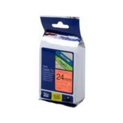 Brother Schriftbandkassette TZEB51 / signal-orangeschwarz / 5m / 24mm / laminiert / f. P-touch 2430PC, 3600,