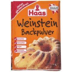 Haas Weinstein - Backpulver für lockere Backwaren 3 x 16g