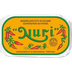 Nuri Makrelenfilets in scharf gewürztem Olivenöl 90g