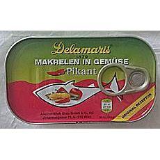 Delamaris Makrelen in Gemüse, pikant