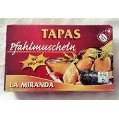 Tapas La Miranda Pfahlmuscheln mit Piri Piri
