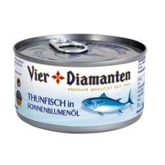 Vier Diamanten Thunfisch in Sonnenblumenöl 75g