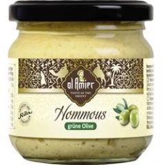 Al Amier Hommous mit grünen Oliven 180g