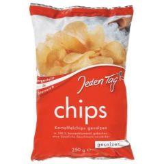 Jeden Tag Chips - gesalzen 250g