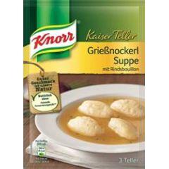 Knorr Kaiser Teller Grießnockerl Suppe