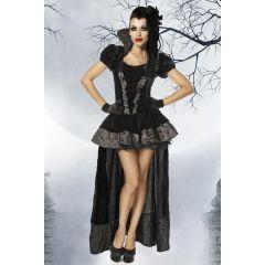 Vampirkostüm schwarz Größe XL