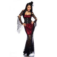 Vampirkostüm schwarz/rot Größe XS-M