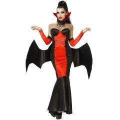 Vampirkostüm schwarz/rot Größe L/XL