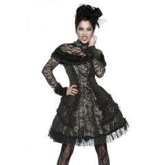 Premium-Vampirkostüm schwarz/grau Größe M
