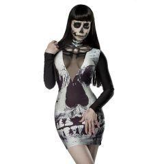 Skull Minikleid Größe L