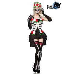 Day of the Dead Kostüm: Mexican Skeleton schwarz/weiß Größe XS-M