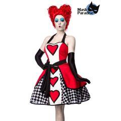 Queen of Hearts rot/schwarz/weiß Größe S