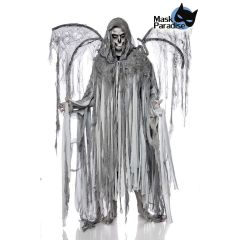 Todesengelkostüm: Angel of Death (Mann) grau Größe OS