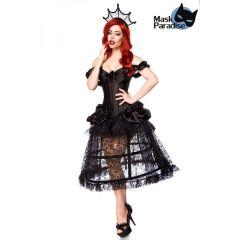 Gothic-Kostüm: Gothic Queen schwarz Größe XL
