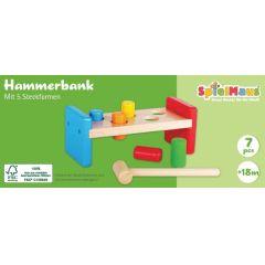 SpielMaus Holz Hammerbank, 7-teilig
