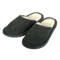 Pantoffel Loden anthrazit 42/43