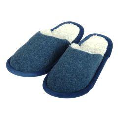 Pantoffel Loden blau 38/39