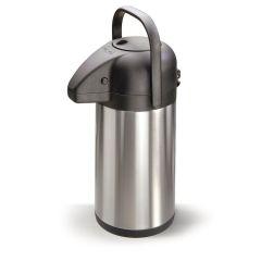 Pump-Isolierkanne 1,9 Liter Thermosflasche Thermoskanne Isolierflasche Kanne Pump-Kanne Edelstahl