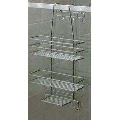 Duschregal 3 Böden Duschkorb Duschablage Metall rostfrei Hängeregal ohne Bohren