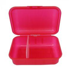 Brotboxen rot mit 2 Trennstegen Brotzeitbox Brotzeitdose Brotdose Frühstücksdose Kinderbox