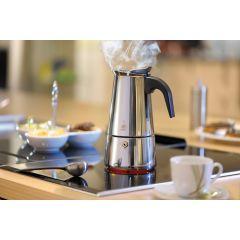 Gefu Espressokocher Emilio 2/4/6 Tassen Espressokanne Edelstahl Kaffeekocher