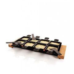 Partyclette XL mit 8 Pfännchen Raclette Käse Set 8 Personen Partygrill