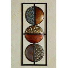 Wandobjekt Square Wandbild Wanddekoration Metall braun 69 x 28 cm